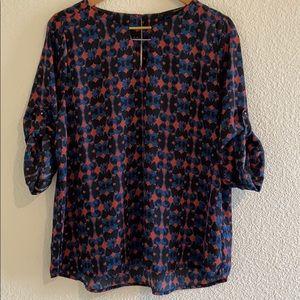 NWT   HARVE BERNARD   Women's long sleeve blouse